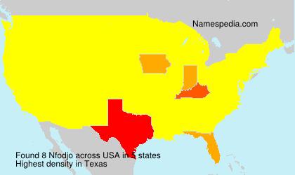 Surname Nfodjo in USA