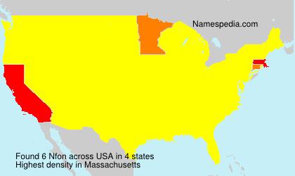 Surname Nfon in USA