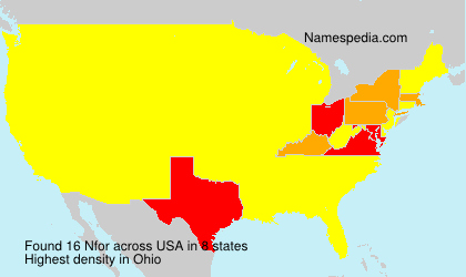 Surname Nfor in USA