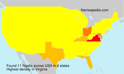 Surname Ngalla in USA