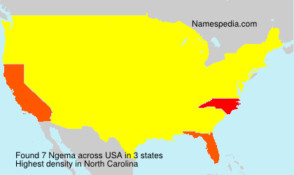 Surname Ngema in USA