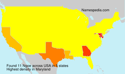 Surname Ngoe in USA
