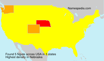 Surname Ngute in USA