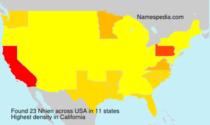 Surname Nhien in USA