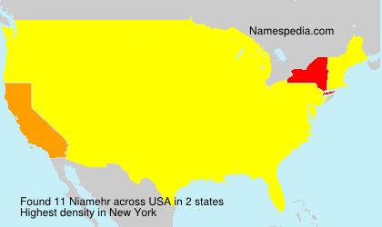 Surname Niamehr in USA
