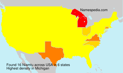 Surname Niamtu in USA
