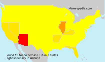 Surname Niana in USA