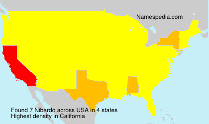 Familiennamen Nibardo - USA