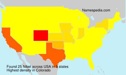 Surname Nibel in USA