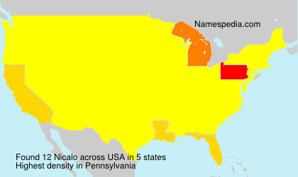 Surname Nicalo in USA