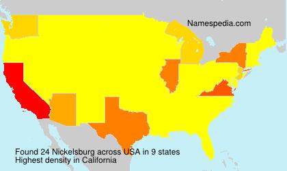 Surname Nickelsburg in USA