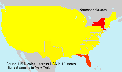 Surname Nicoleau in USA