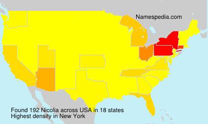 Surname Nicolia in USA