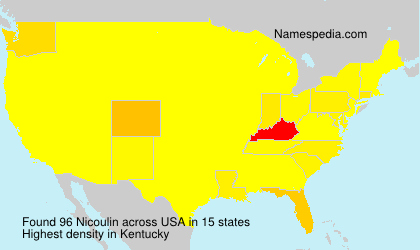 Surname Nicoulin in USA