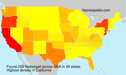 Surname Niebergall in USA