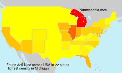Familiennamen Niec - USA
