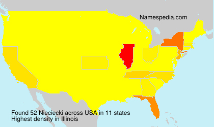 Surname Nieciecki in USA