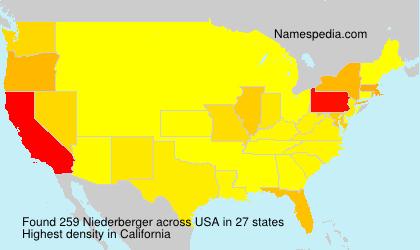 Familiennamen Niederberger - USA