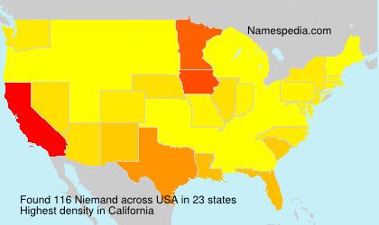 Familiennamen Niemand - USA