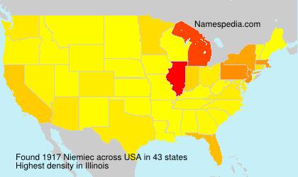 Familiennamen Niemiec - USA