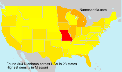 Surname Nienhaus in USA