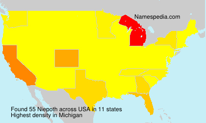 Surname Niepoth in USA