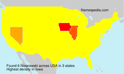 Surname Nieprawski in USA