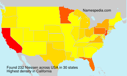 Surname Niessen in USA