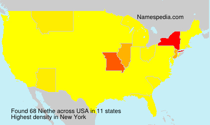 Surname Niethe in USA