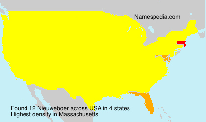 Surname Nieuweboer in USA