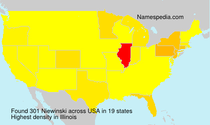 Surname Niewinski in USA