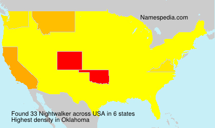 Surname Nightwalker in USA