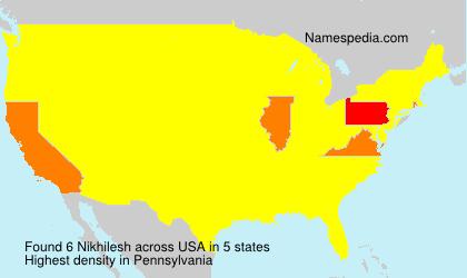 Familiennamen Nikhilesh - USA