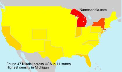 Surname Nikolaj in USA