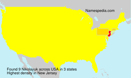 Surname Nikolayuk in USA