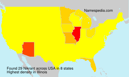 Familiennamen Nikrant - USA
