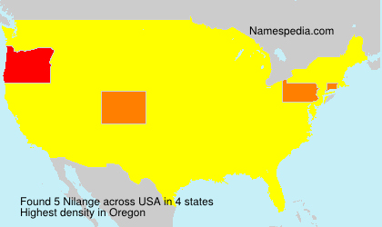 Familiennamen Nilange - USA