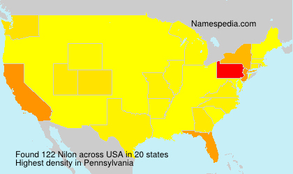 Surname Nilon in USA