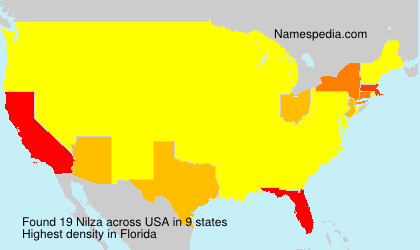 Surname Nilza in USA