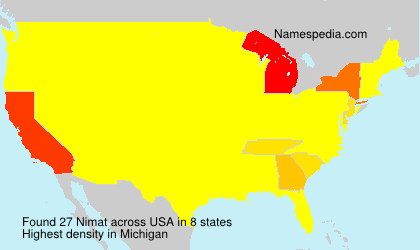 Surname Nimat in USA