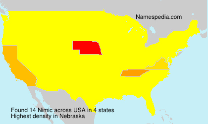 Surname Nimic in USA