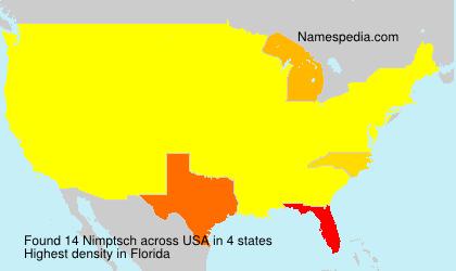 Familiennamen Nimptsch - USA