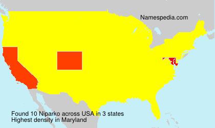 Surname Niparko in USA