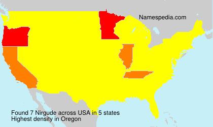 Surname Nirgude in USA