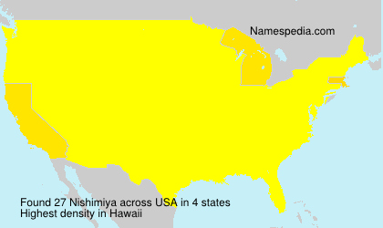 Surname Nishimiya in USA