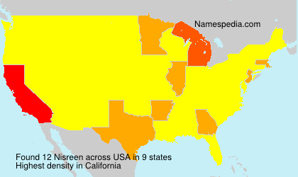 Surname Nisreen in USA