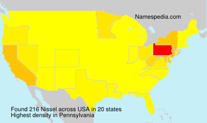 Surname Nissel in USA