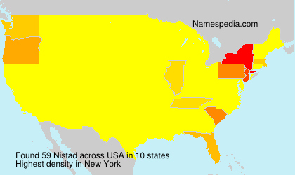 Surname Nistad in USA
