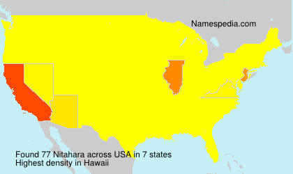 Surname Nitahara in USA
