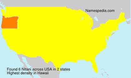 Surname Nitani in USA